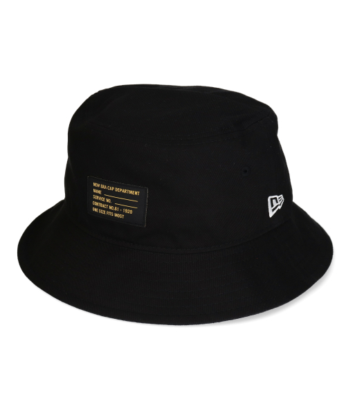 NEW ERA BUCKET01 BLK PATCH