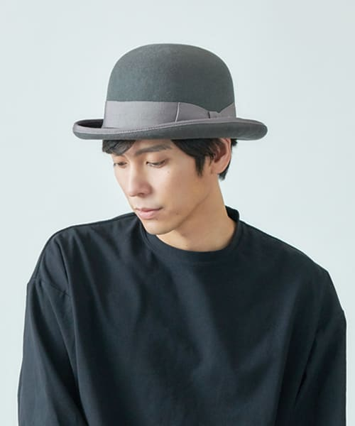override WOOL DERBY HAT