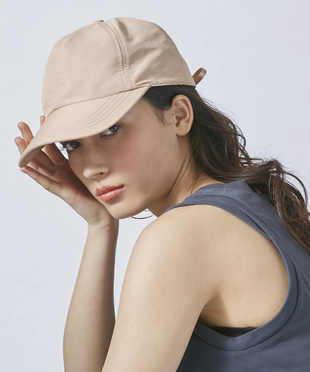Chapeau d' O Nylon Lace-up Cap