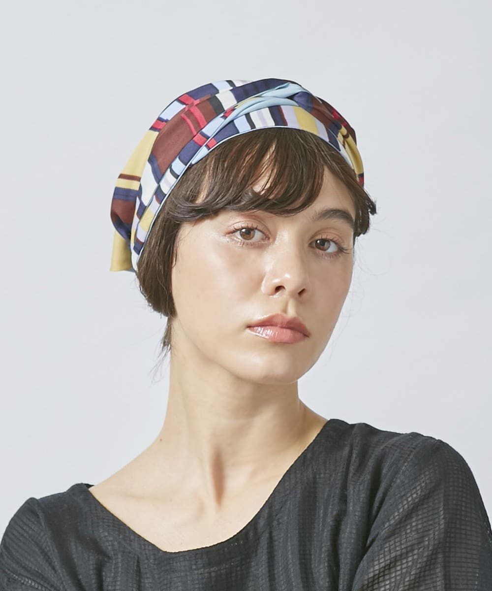 OVERRIDE Stripe Headscarf