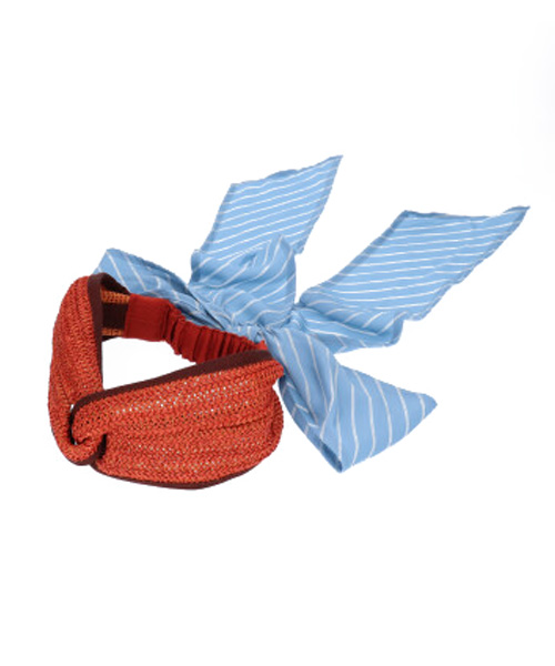 OVERRIDE Stripe Scarf Hairband