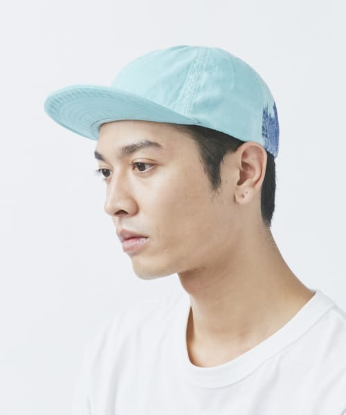 OVERRIDE BLEACH & DYE DENIM CAP