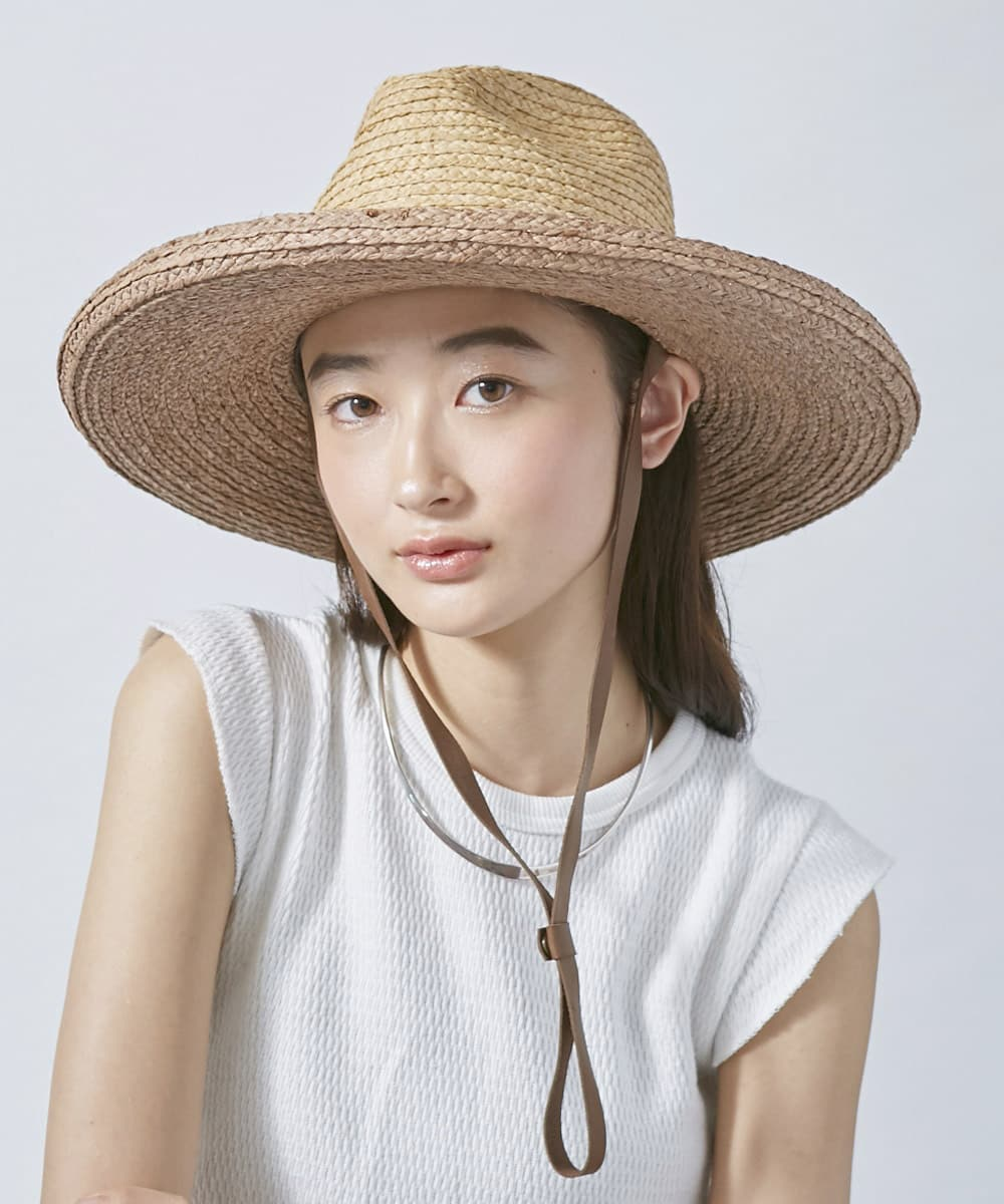 arth Raffia Edge Up Fedora