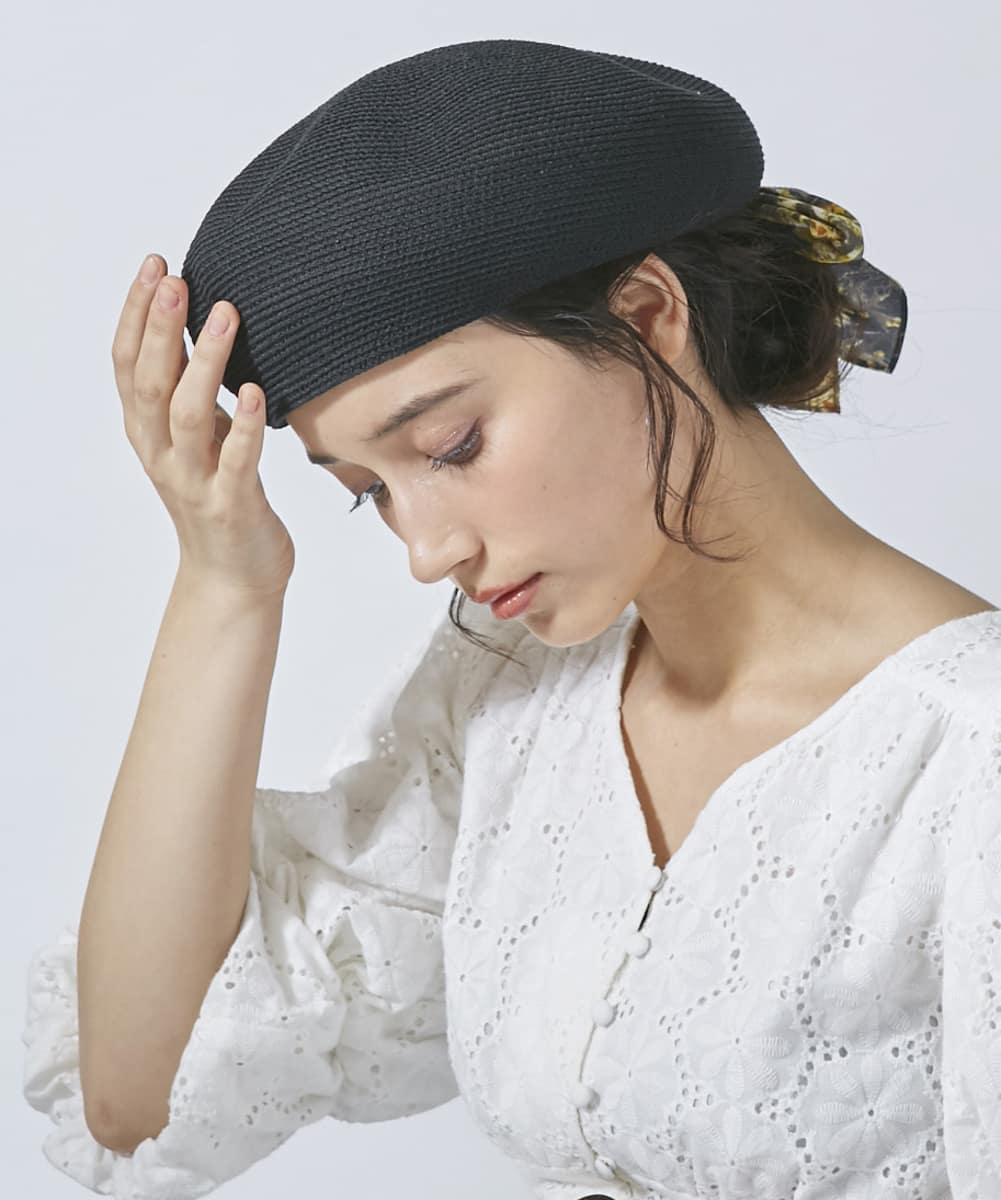 Chapeau d' O Silk Braid Beret
