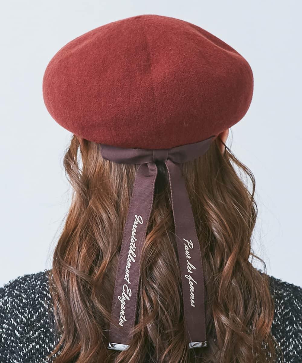 Chapeau d' O EMB Ribbon TH Beret