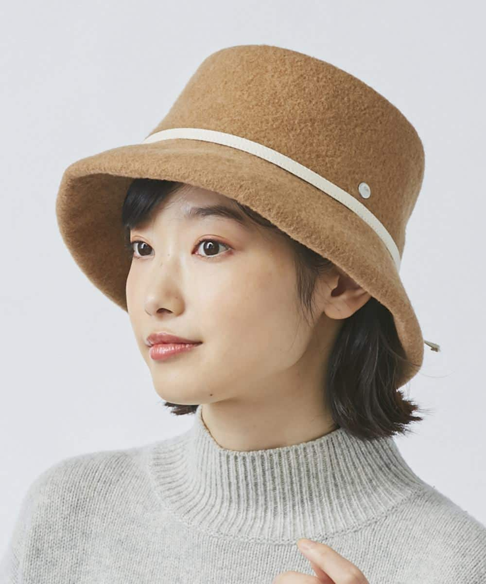 OVERRIDE BASQUE SUEDE RIBBON HAT