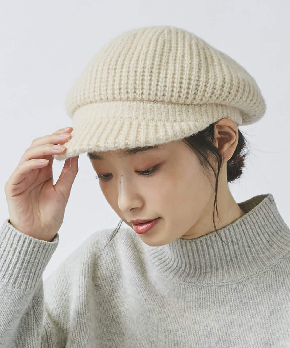 【予約】OVERRIDE PUFFY KNIT CASQUETTE