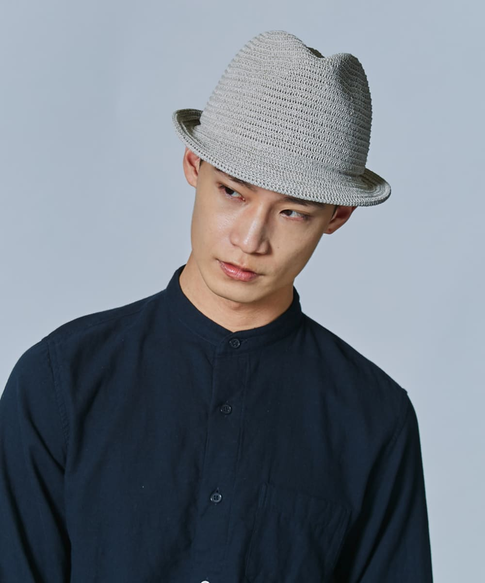 OVERRIDE WASHABLE KNIT FEDORA Ag+