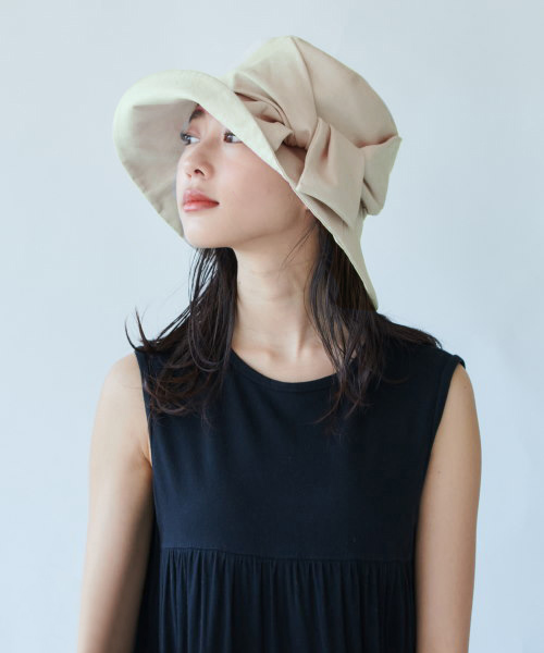 override Linen Ribbon Hat