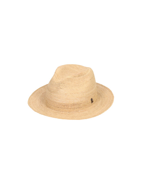 arth Raffia Clochet Long Brim