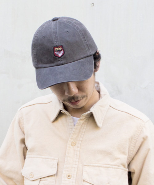 override PLAID SHIELD 6P CAP C.TWILL