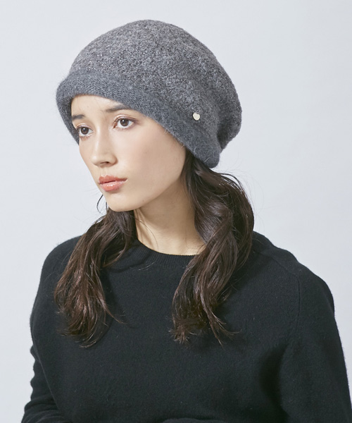 Chapeau d' O RAME Tweed Knit Hood